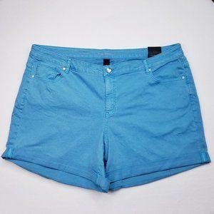 Lane Bryant Turquoise Girlfriend Shorts - 26 - NWT